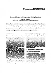 Structured Surfaces and Morphological Wetting Transitions.