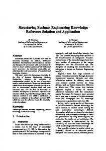 Structuring Business Engineering Knowledge