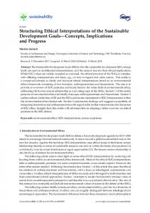 Structuring Ethical Interpretations of the Sustainable ... - MDPI