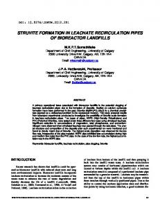 Struvite Formation in Leachate Recirculation Pipes of ...