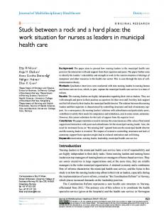 stuck between a rock and a hard place: the work ... - Semantic Scholar
