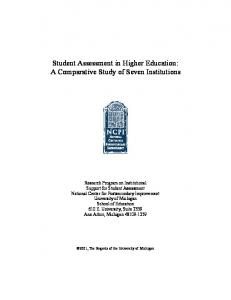 Student Assessment in Higher Education: - Stanford University
