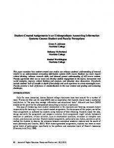 Student-Created Assignments in an Undergraduate Accounting ...