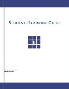 STUDENT ELEARNING GUIDE - Midstate College