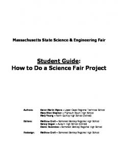 Student Guide: How to Do a Science Fair Project