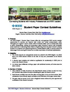 Student Paper Contest Guidelines