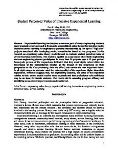 Student Perceived Value of Intensive Experiential Learning