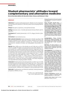 Student pharmacists' attitudes toward complementary ...