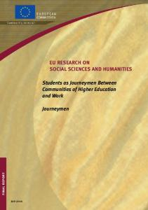 Students as Journeymen Between Communities ... - Cordis - Europa EU