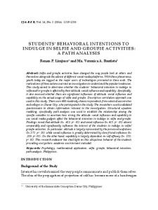students' behavioral intentions to indulge in ... - Serials Publications