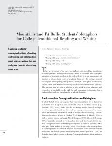 Students' Metaphors for College Transitional ... - Wiley Online Library
