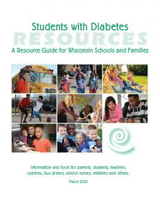 Students with Diabetes: A Resource Guide for Wisconsin