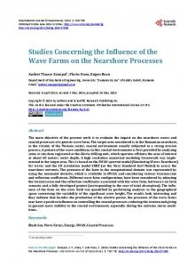 Studies Concerning the Influence of the Wave Farms on the ...