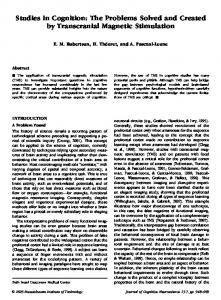 Studies in Cognition: The Problems Solved and Created by ...