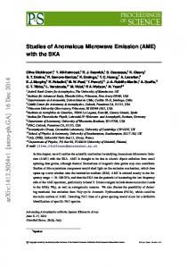 Studies of Anomalous Microwave Emission (AME) with the SKA