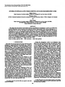 studies of extragalactic formaldehyde and radio ... - IOPscience