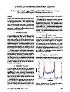 Studies of Transverse Electron Cooling - CERN