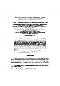 STUDIES ON ACCUMULATION OF HEAVY METALS FROM