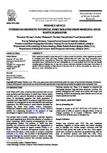 studies on enzymatic potential fungi isolated from municipal solid ...