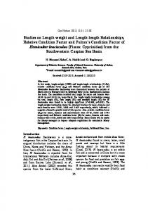 Studies on Length-weight and Length-length Relationships, Relative ...