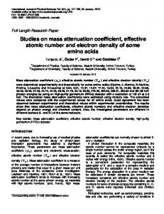 Studies on mass attenuation coefficient, effective atomic number and ...