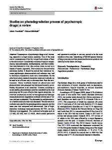 Studies on photodegradation process of psychotropic ...