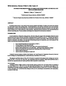 studies on process synthesis and design for hydrochloric acid recycle ...