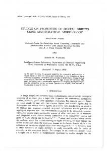 Studies on Properties of Digital Objects Using ... - Robert Haralick