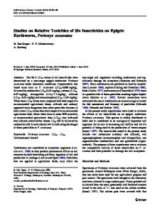 Studies on Relative Toxicities of Six Insecticides on ... - Springer Link