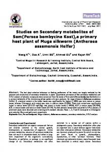 Studies on Secondary metabolites of Muga silkworm - International ...