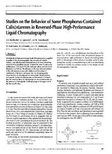 Studies on the Behavior of Some Phosphorus-Contained Calix [n ...