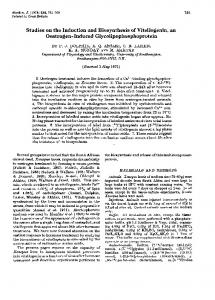 Studies on the induction and biosynthesis of vitellogenin, an ...
