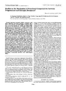 Studies on the Mechanism of Functional Cooperativity between ...