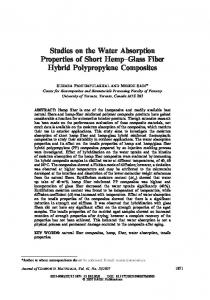 Studies on the Water Absorption Properties of Short ... - SAGE Journals