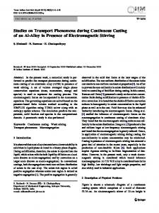Studies on Transport Phenomena during Continuous Casting of an Al