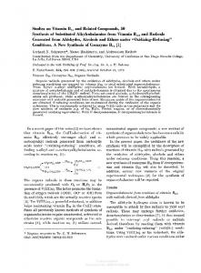 Studies on Vitamin B12 and Related Compounds