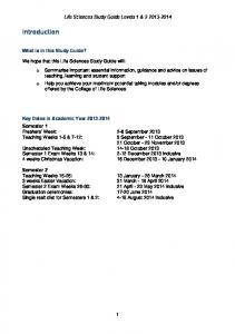 Study Guide - 2013/14 - Levels 1 & 2