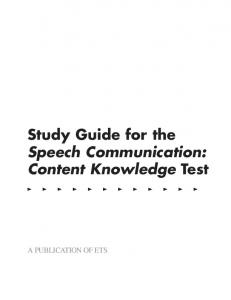 Study Guide for the Speech Communication ... - Digital River, Inc.