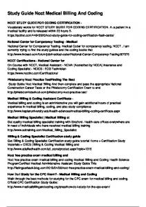 Study Guide Ncct Medical Billing And Coding