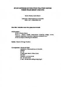 study methods of induction traction motor three phase ...
