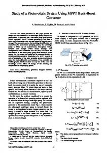 Study of a Photovoltaic System Using MPPT Buck-Boost Converter
