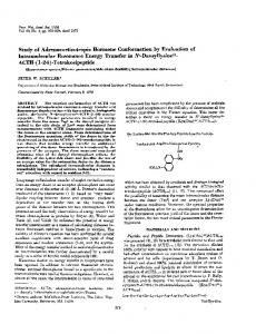 Study of Adrenocorticotropic Hormone Conformation by ... - Europe PMC