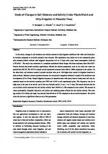 Study of Changes in Soil Moisture and Salinity Under PlasticMulch ...