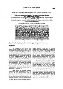 Study of Co (II) and Cr (VI) Adsorption from Aqueous Solution by CaCO3