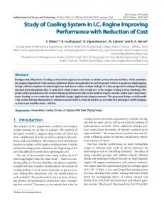 Study of Cooling System in I.C. Engine Improving Performance with ...