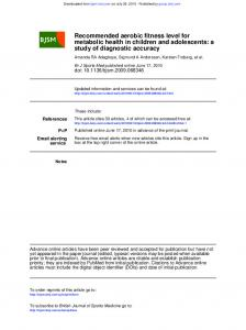 study of diagnostic accuracy metabolic health in