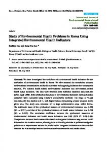 Study of Environmental Health Problems in Korea Using Integrated