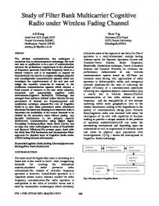 Study of Filter Bank Multicarrier Cognitive Radio under ... - IEEE Xplore