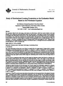 Study of Gravitational Lensing Constraints on the