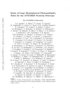 Study of Large Hemispherical Photomultiplier Tubes for the ANTARES